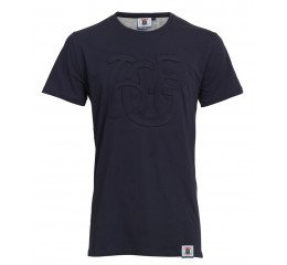 NAVY MONOGRAM TEE - BARN